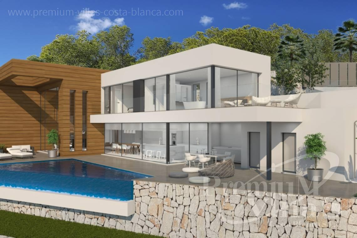 modern villas houses for sale Costa Blanca Spain - C2133 - New construction villa 4km from Moraira 3