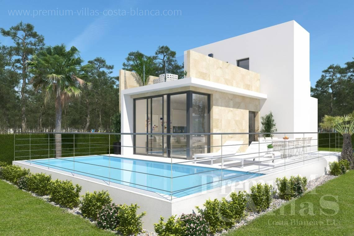 modern villas for sale in Finestrat Costa Blanca Spain - C1904 - Modern villa with pool and sea views 1