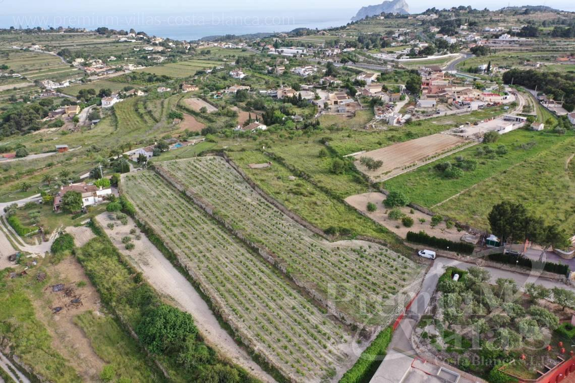 - 0220G - Flat plot in Benimarco, Teulada with sea views to build a Finca 4