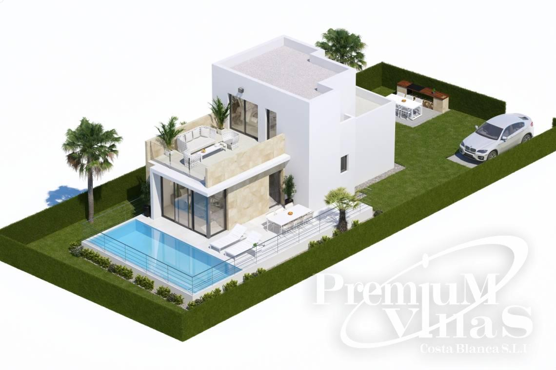 Buy villas in Finestrat Costa Blanca - C1904 - Modern villa with pool and sea views 2