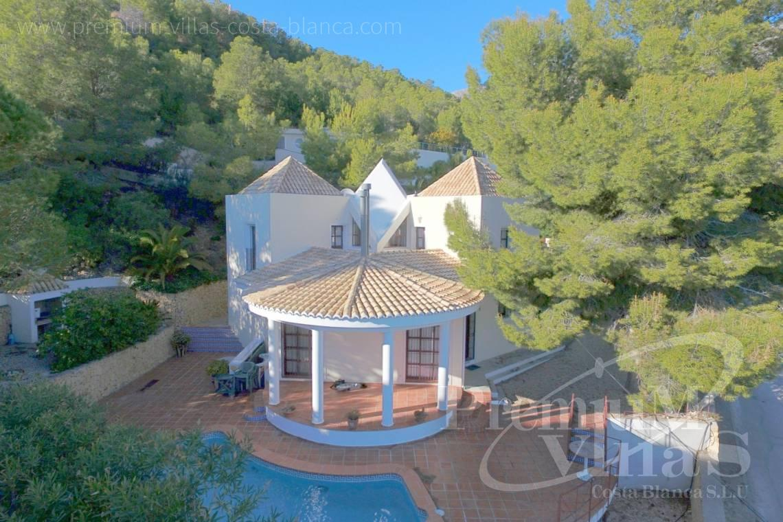 house villa for sale Altea Costa Blanca Spain - C2132 - House surrounded by nature with beautiful sea and mountain views in Altea. 1