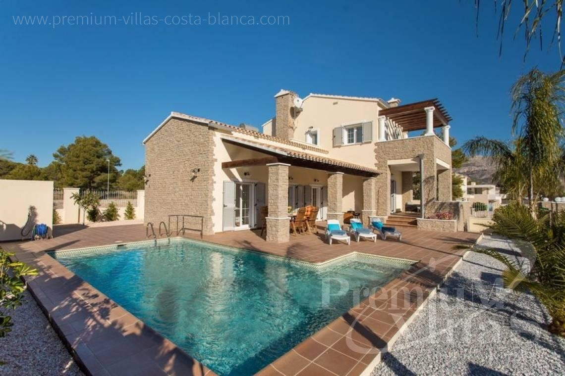 house villa for sale Altea Costa Blanca Spain - CC2205 - Rustic style villa in Altea, recently built, with beautiful views 1