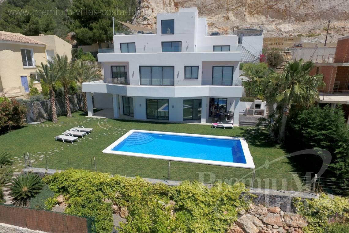 modern villas for sale Costa Blanca Spain - C2048 - Modern villa for sale with panoramic sea views in Altea Hills 1
