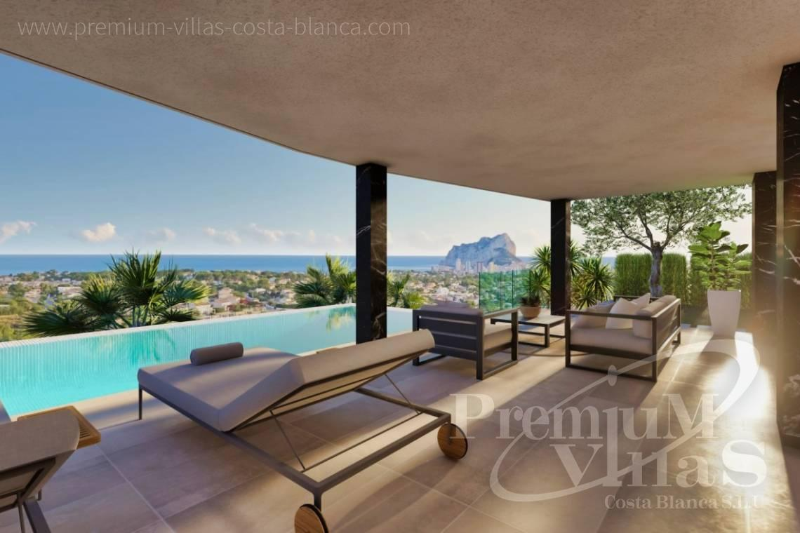 Buy villas houses sea view Calpe Costa Blanca - C2390 - Modern villa with elevator and sea views in Calpe 1