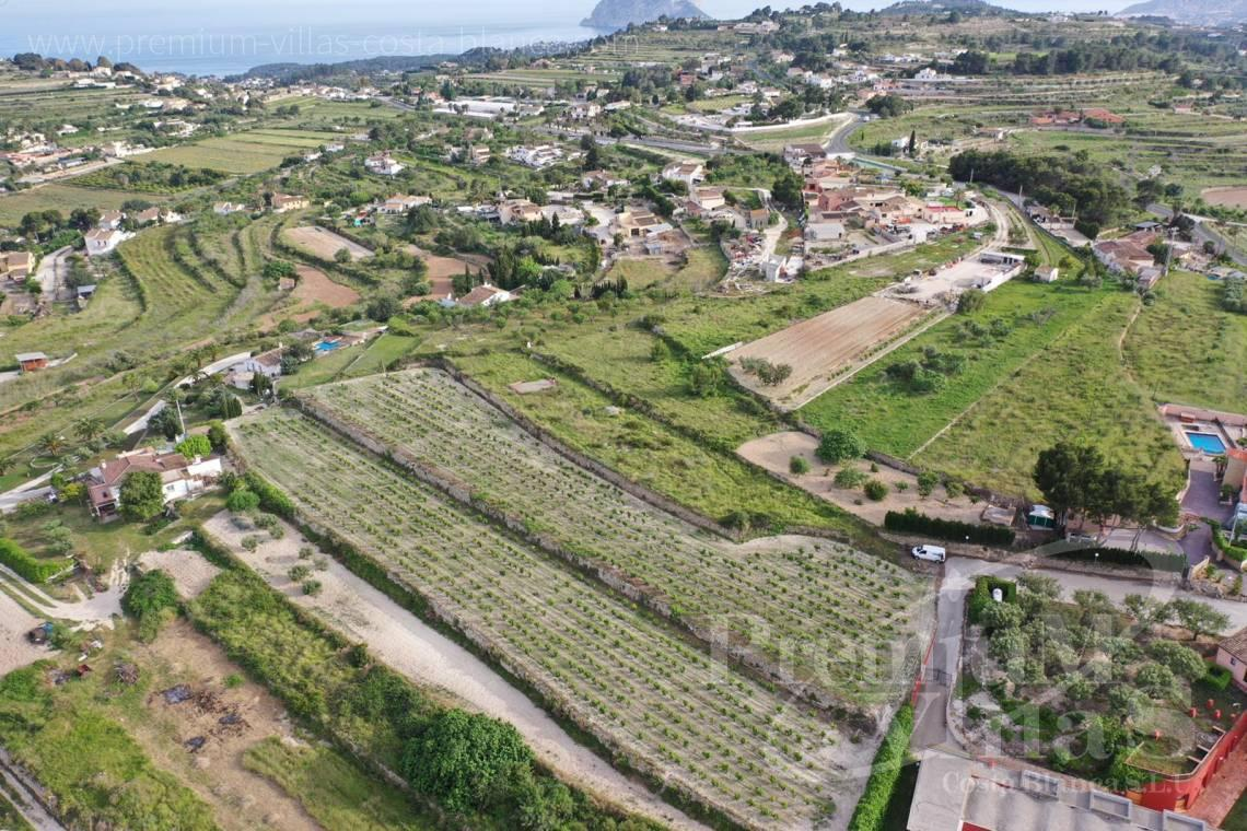 - 0220G - Flat plot in Benimarco, Teulada with sea views to build a Finca 3