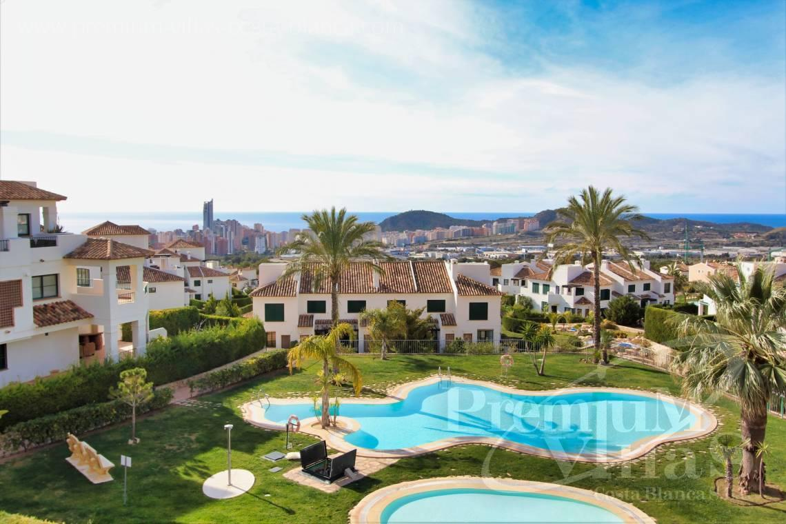 For sale apartment near the golf course in Finestrat Alicante - A0629 - 1 bedroom apartments with sea views in Finestrat 1
