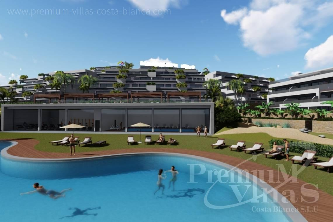 Buy apartment in luxury residential in Finestrat Spain - A0622 - 2 bedrooms apartments with sea views in Finestrat 2