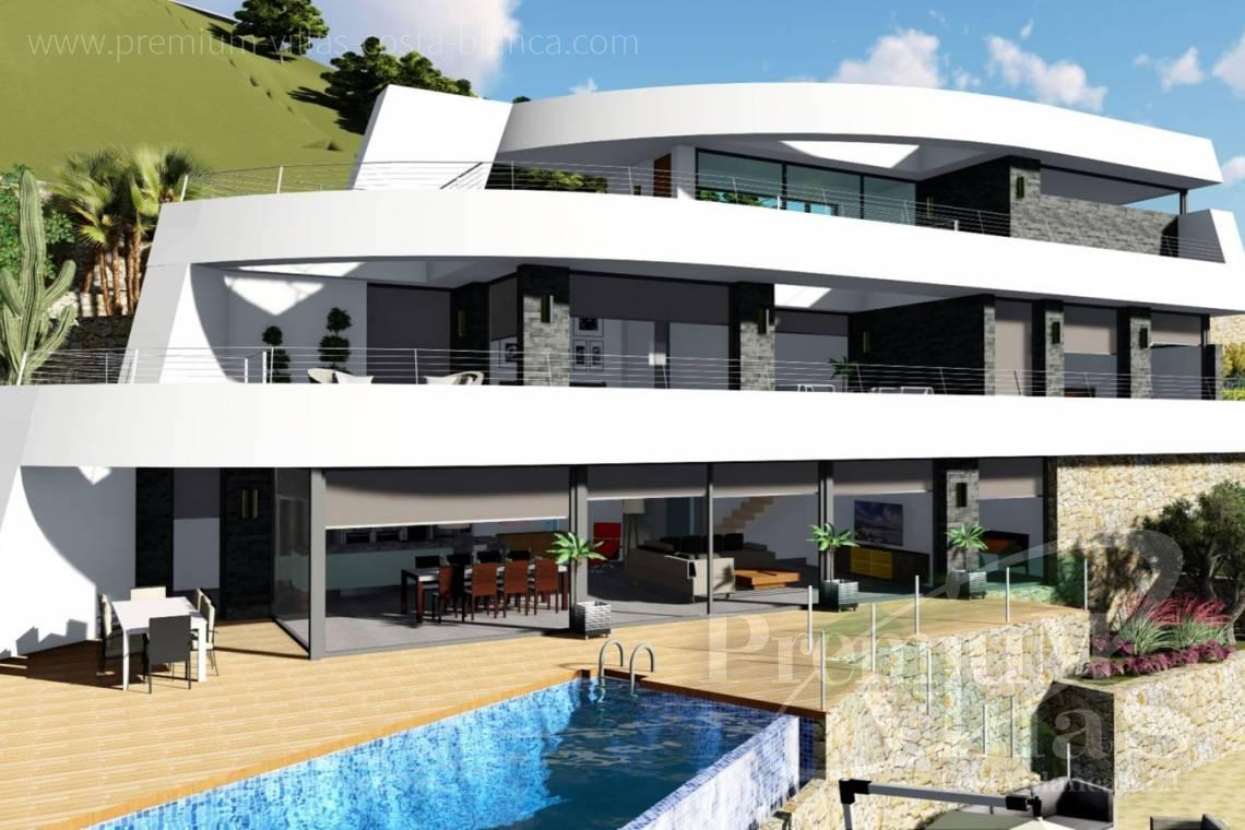 Buy modern villa in Benissa Costa Blanca - C2122 - New project in Benissa with panoramic views over the whole Calpe. 5