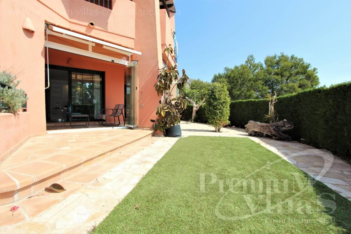 Apartment with garden for sale in Finestrat Costa Blanca - A0640 - Ground floor with sea views in Finestrat 5