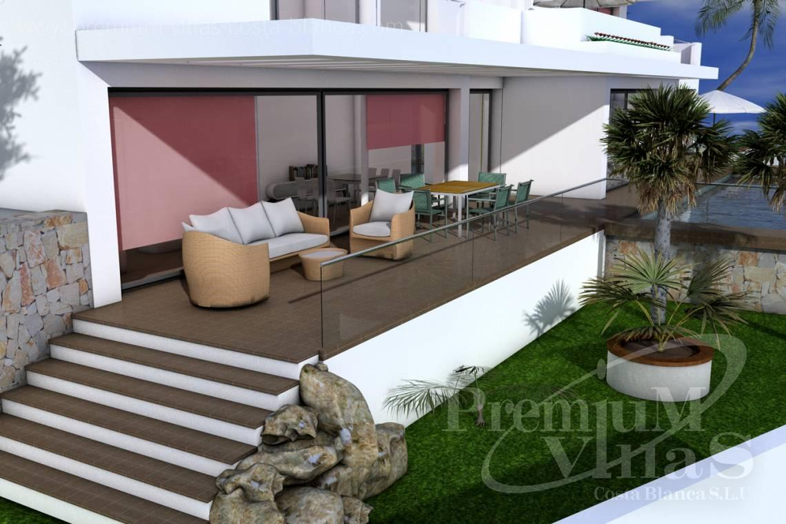 Modern 3 bedrooms house villa in Moraira Costa Blanca - C1528 - Beautiful project of modern style house, with sea view 5