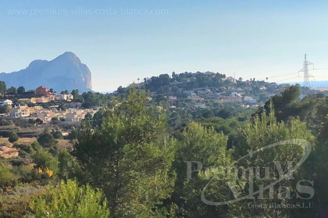 Plot land for sale in Calpe Costa Blanca - 0205G - Practically flat plot with fabulous views of the mountains and partial sea views in Empedrola. 1