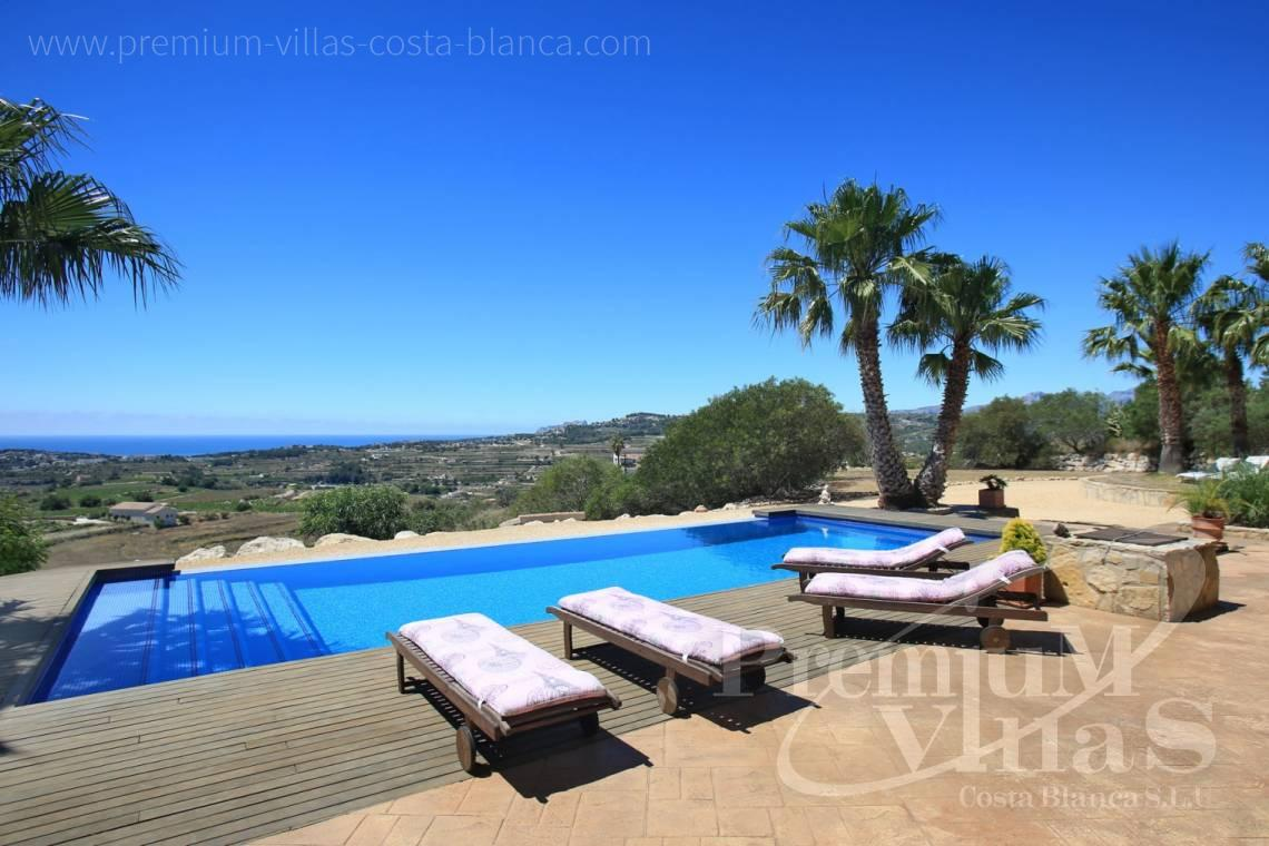 Buy villas houses sea view  Moraira  Costa Blanca - C2199 - Moraira: Beautiful villa surrounded by vineyards with beautiful sea views. 15